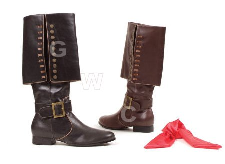 Captain - 1 inch Heel Knee High Boots